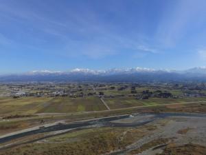 立山連峰(上空約150mから撮影)